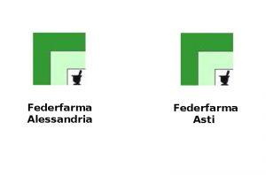 Loghi Federfarma Alessandria e Asti per ricerca Farmacie di turno